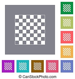 Chess board square flat icons