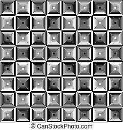 Chess board style seamless alternating pyramids