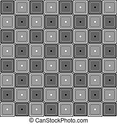 Chess board style seamless alternating pyramids