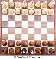 Chess board top view