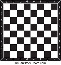 Chess board whit a style