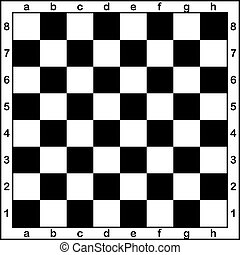 Chess board with letters and numbers