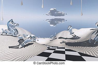 Chess board's road