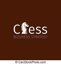 Chess business strategy logo with knight