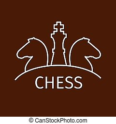 Chess business strategy logo