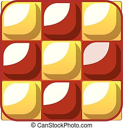 Chess cake icon, cartoon style
