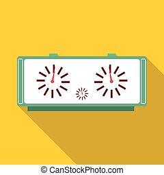 Chess clock icon, flat style