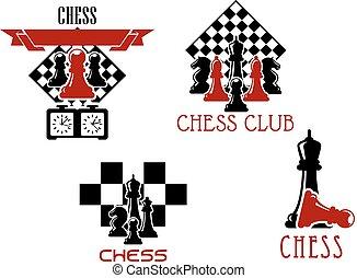Chess club and tournament symbols