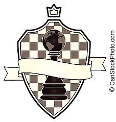 Chess coat of arms, vector