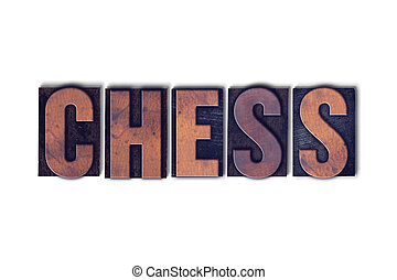 Chess Concept Isolated Letterpress Word