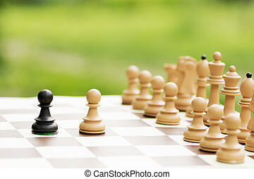 chess conflict concept