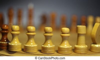 British chess knight leader - Chess figures in a row British...