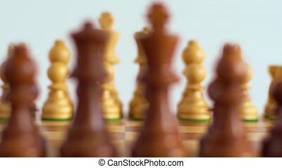 Chess figures with focus shift - Chess board game. Chess ...