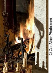 Chess &  fireplace - Chess &  fireplace
