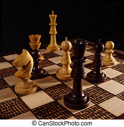 Chess game (2) - Wooden chess board