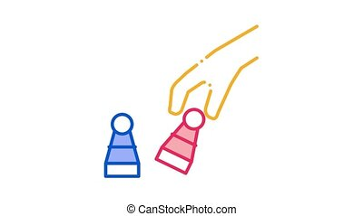 Chess Game Battle Icon Animation. color Chess Game Battle animated icon on white background