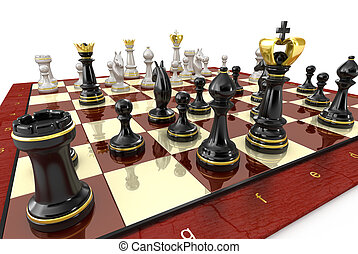 Chess game board