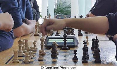 chess game clock chess club