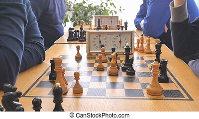 chess game clock in a sporting club