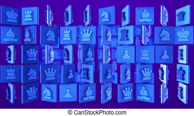 """""""Chess game concept."""" - """"3d rendering of square planes with ..."""