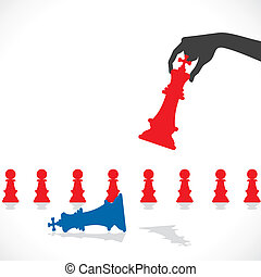 chess game concept stock vector
