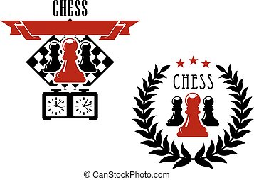 Chess game emblems and symbols