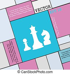 chess Game icon sign. Modern flat style for your design. Vector