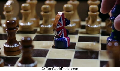 Chess game in Brexit - Chess game, European rook beats the ...