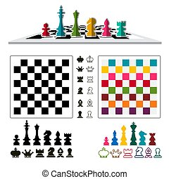 Chess Game Set with Pieces and Chessboards