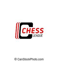 Chess game symbol for sport club emblem design