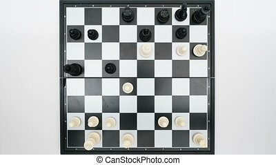 chess game top view