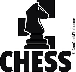 Chess horse logo, simple style