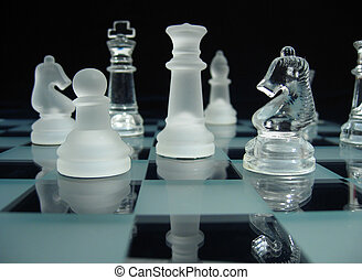 Chessmen during a play.