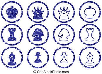 Chess icons set.