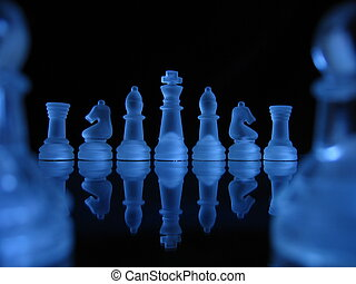 Chess III - Chessmen in a row.