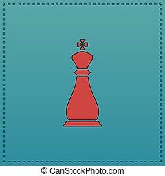 Chess king computer symbol