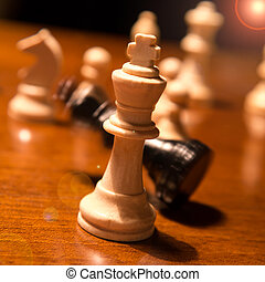 chess king falling