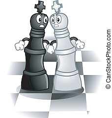 Chess King Mascots - Mascot Illustration of a Pair of Kings...