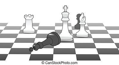 Chess king victory game strategy win - White chess king ...