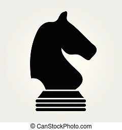Chess Knight icon isolated on white background. Vector illustration