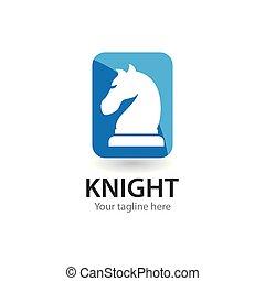 Chess knight logo icon