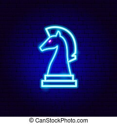 Chess Knight Neon Sign
