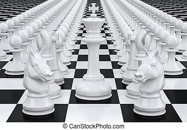 Chess, leader concept. 3D rendering