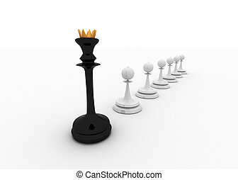chess leader concept