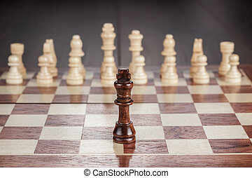 chess leadership concept on the chessboard - chess...