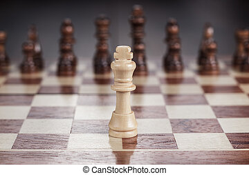 chess leadership concept on the chessboard - chess ...