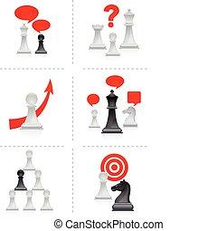 chess, metaforer