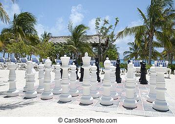 Chess On A Beach