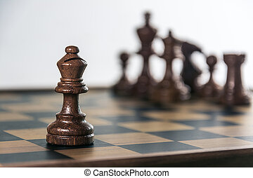 Chess on board , white background