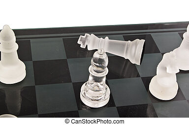 Chess on the white background